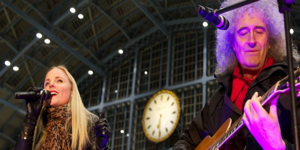 Brian May and Kerry Ellis launch Tiger Tracks at St Pancras International