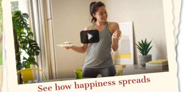 See how happiness spreads