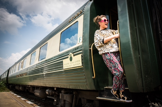 Jaime Winstone with EO Tiger Express